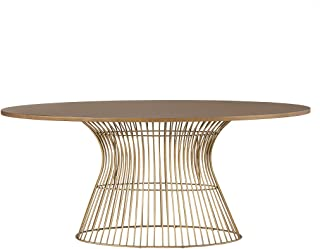 Mercer Oval Dining Table Bronze See Below