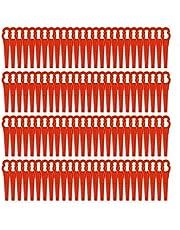 100 stuks grasmaaiermessen, kunststof messen, reservemes, gras, kunststofmessen voor Einhell accu, grastrimmer, 76 mm