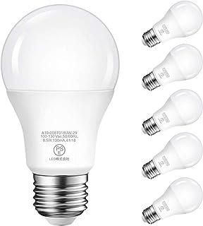LED電球 E26口金 60W形 806lm 電球色 3000K 8.5W 広配光タイプ 省エネ 高演色 PSE認証済み 3年安心保証 6個入り