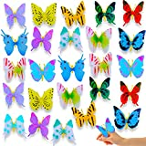 26pcs ButterfliesAction Figure Art DecorationKidsToys, MiniButterfly Bug Kit Party Favor, Bedroom, Garden, Birthday Supplies, Butterflies CraftsFor Fun Decor and Explore Outdoor Gifts