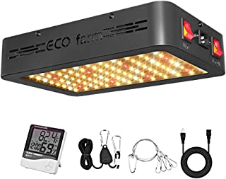 LED Grow Light, ECO farm 600W Full Spectrum Canna-Beginner Grow Light for Indoor Plants, 216 LEDs Grow Lamp with Veg and Bloom Switch