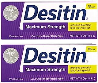 DESITIN Maximum Strength Diaper Rash Paste 4 oz (Pack of 2)