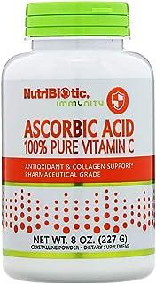 NutriBiotic Immunity Ascorbic Acid 100 Pure Vitamin-C Crystalline Powder - 227 g