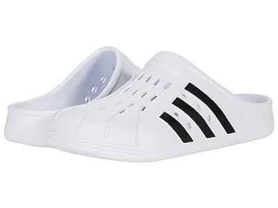 adidas Adilette Clog (Footwear White/Core Black/Footwear White) Shoes
