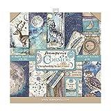 STAMPERIA SBBS11 Cosmos - Bloc de papel (10 hojas, 20,3 x 20,3 cm, doble cara), multicolor