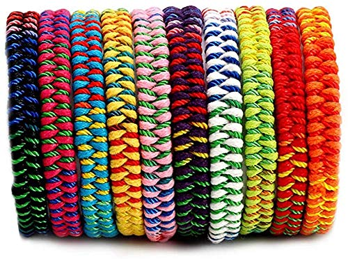InDom Woven Bracelets, 10Pcs Colorful Handmade Friendship Bracelets Braided Bracelet Multi Color for Hand Wrist Anklet Hair