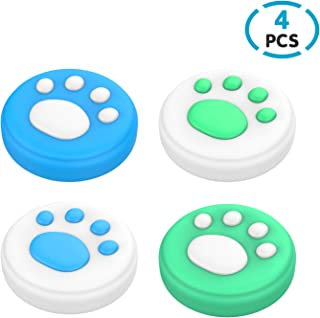 DiMiK Thumb Grips for Switch & Lite, Cat Paw Puppy Paw Cute Silicone Joystick Covers Caps for Nintendo Switch/Switch Lite/...