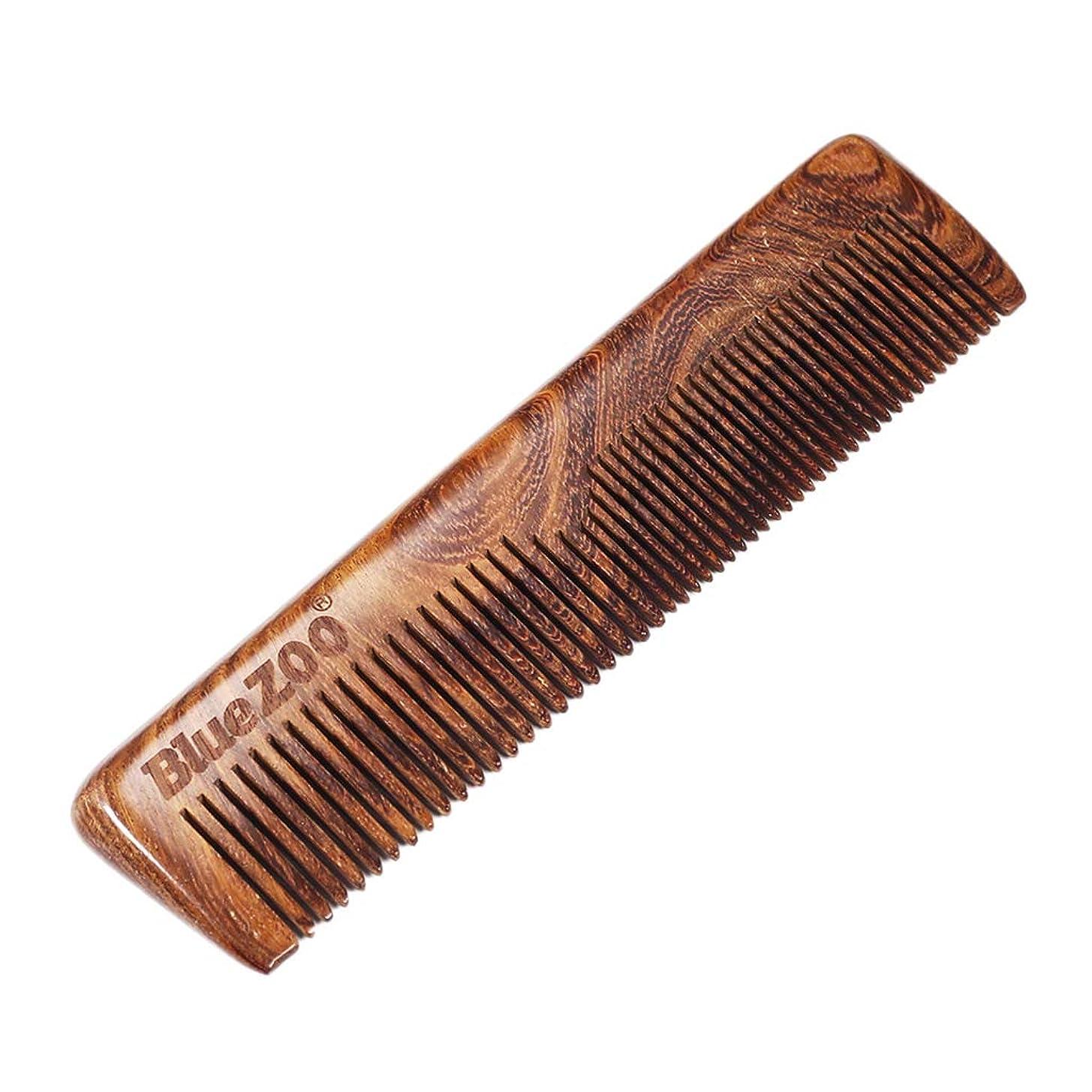 ワイヤープレゼント航空便B Blesiya 木製櫛 帯電防止 ウッドコーム ビアードコーム