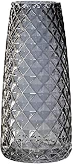 I3C Vase décoratif en verre transparent moderne pour la maison, le bureau, la table, l'étagère