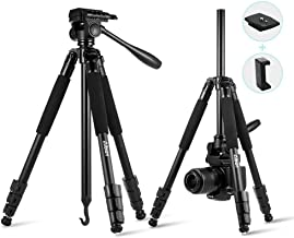 Albott Camera Tripod,60 Inch Compact Travel DSLR SLR Lightweight Aluminum Professional Tripods with Phone Stand for Canon,Nikon,Sony,Samsung,Olympus