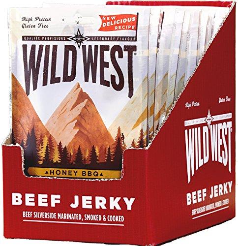 Wild West Beef Jerky 70 g bovins viande sèche Biltong Gluten Free High Protéine