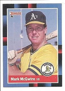 Mark McGwire Oakland Athletics 1988 Donruss Baseball Card #256