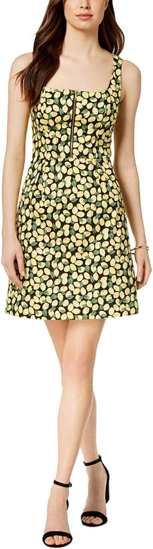 Adrianna Papell Womens Little Lemons Sleeveless Special Occasion Dress