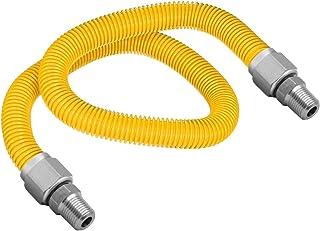 Flextron FTGC-YC38-72A 182 cm elastyczne złącze suszarki gazowej pokryte żywicą epoksydową z zewnętrzną średnicą 1/2 cala ...