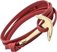 Bracelet ancre mode PU pour femme et homme
