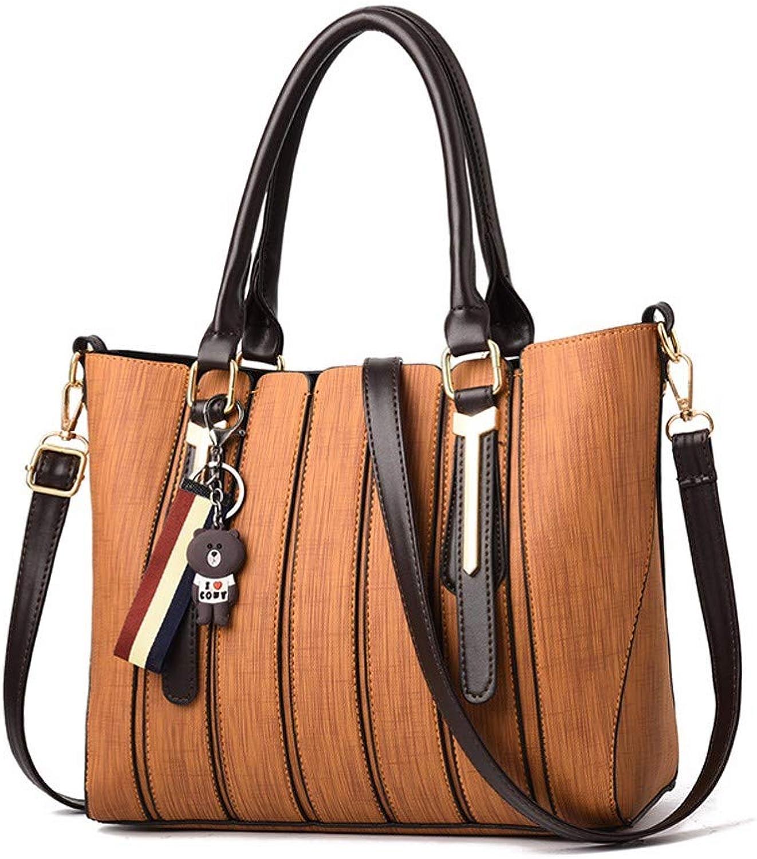 Hjayu Damen Handtaschen PU Leder Crossbody Tote Tasche Schultertaschen Mode Umhängetasche Messenger tragbare Bär Anhänger B07QG9QQBJ  Niedriger Preis