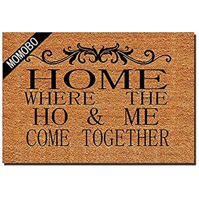 MOMOBO Funny Doormat Custom Indoor Doormat Home and Office Decorative Entry Rug Garden/Kitchen/Bedroom Mat Non-Slip Rubber 23.6 x15.7 Inch