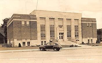 Audubon Iowa Court House Real Photo Antique Postcard K50362