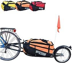 Polironeshop Vector Remolque para Bici Bicicleta de trasporte por cicloturismo Carro Carrito