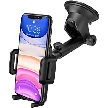 Supporto Smartphone per Auto, Mpow 360° Rotazione Porta Cellulare da Auto per Cruscotto/Parabrezza, Universale Porta Telefono Auto con Ventosa Forte Compatibile con iPhone, Galaxy, Xiaomi, ecc