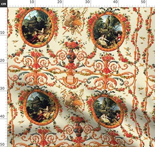 Marie Antoinette, Romantisch, Lolita, Sahne, Barock Stoffe - Individuell Bedruckt von Spoonflower -...