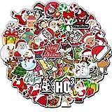 BLOUR 50 unids/Set Pegatinas de Regalo de Feliz Navidad Street Doodle Conjunto de Pegatinas para el día de Navidad Snowboard Impermeable PVC Pegatina para niños