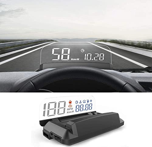 popular Heads 2021 new arrival Up Display for Car, iKiKin OBD2 Car HUD Display Shows Speed RPM Voltage and Alarm Function online sale