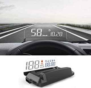 Heads Up Display for Car, iKiKin OBD2 Car HUD Display Shows Speed RPM Voltage and Alarm Function