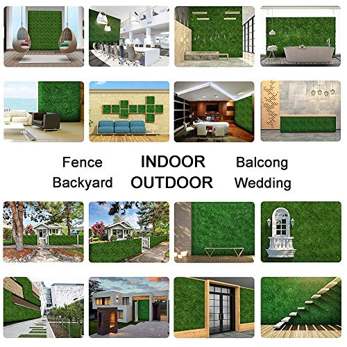 """Sunnyglade 12 Pieces 20""""x 20"""" Artificial Boxwood Panels Topiary Hedge Plant, Privacy Hedge Screen UV Protected Suitable for Outdoor, Indoor, Garden, Fence, Backyard and Decor (12PCS)"""