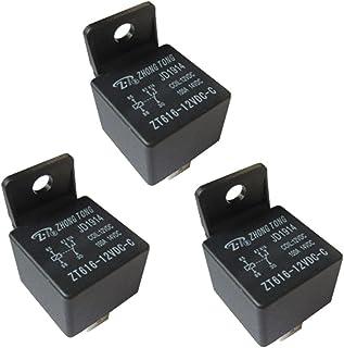 Auto relais, 3 stuks 12 V 80 A 5-polig auto relais sluiter omschakelrelais, wisselrelais vermogensrelais voor auto, motorf...