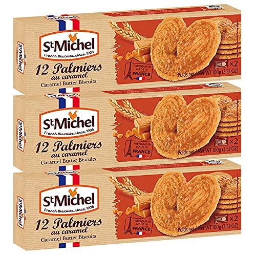 サンミッシェル パルミエ キャラメル100g 3箱セット フランス クッキー ビスケット 輸入菓子 ギフト