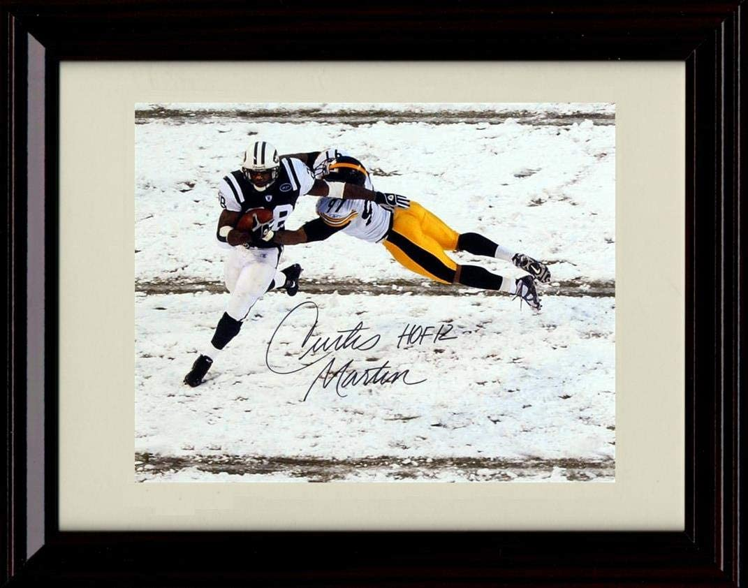 Framed Curtis Martin Autograph Replica 12 Print - Direct Now free shipping stock discount HOF