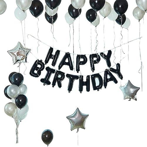 100% a estrenar con calidad original. XUZg-balloons Conjunto de Globos en blanco y negro, Fiesta Fiesta Fiesta de cumpleaños Conjunto Decorativo Globo de látex Fondo de la Sala de Fiestas Niño de la Parojo Globo de cumpleaños para Adultos (Color   A)  directo de fábrica