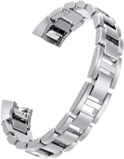 For Fitbit Alta Bands/Fitbit Alta hr, Wearlizer Metal Replacement Bands/Wristbands/Strap Assesories for Fitbit Alta Activity and Sleep Tracker, Decorate your Fitness Tracker Silver/Gold/RoseGold/Black