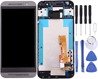 EasePoints For Lcd Screen Replacement LCD Screen and Digitizer Full Assembly with Frame for HTC One M9 (Grey) (Color : Grey)
