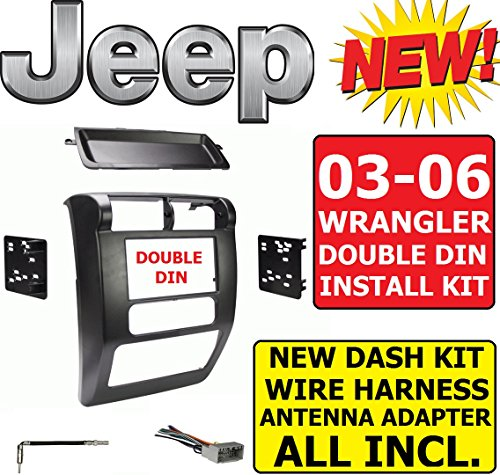 03 04 05 06 JEEP WRANGLER TJ Car Radio Stereo Installation Double Din Dash Kit