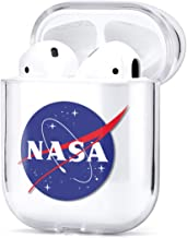 Protective Case for Apple AirPods Series 1 2 Clear Silicone Cover Trendy Cute Summer Design Fresh Funny Waterproof Charging Case (NASA)