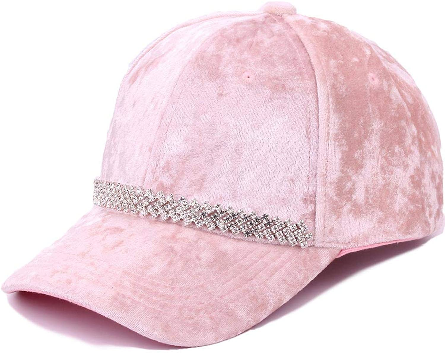 Velvet Cap, Women Adjustable Winter Warm Baseball Caps Casual Fashion Outdoor Sports Student Hat (5660cm),Pink