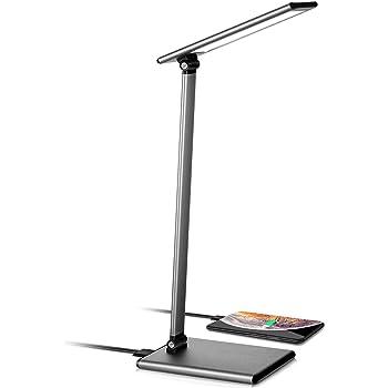led テーブルランプ 無段階調光調色 デスクライト 8W フルタッチコントロール 高速USB充電ポート 電気スタンド 省エネ 学習机 ledライト 角度調整可 折り畳み式 おしゃれ (スペースグレー) (銀)