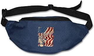 MXYG EMT Flag Waist Pack - Standard, Black,Blue, One Size