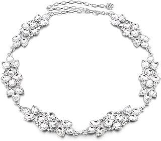 diamante chain dress