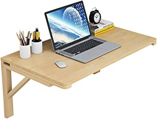 Folding Dining Table  Wall Mounted Table Fold Down  Wooden Fold Table  Stable Sturdy Construction  Drop Leaf Tables for Small Spaces  Size 100cm 60cm