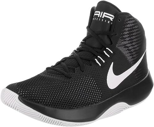NIKE Men's Air Precision noir blanc Cool gris Basketball chaussures (9)