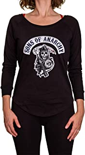 Calhoun Sons of Anarchy French Terry Laser Cut Back Long Sleeve Sweater