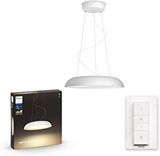 Philips Hue Amaze Lámpara Colgante Inteligente LED blanca con Bluetooth, Luz Blanca de Cálida a Fría, Compatible con Alexa y Google Home