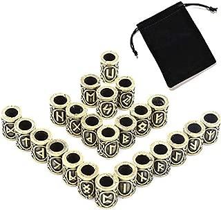 LIMUZI 24 Pieces/Bronze Beads Retro DIY Bracelet Necklace Jewelry Pendant Beads Velvet Packaging