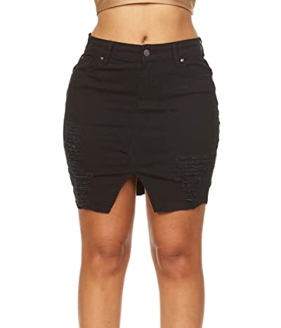 YDX Smart Jeans High Waisted Super Comfy Stretch Denim Skirt