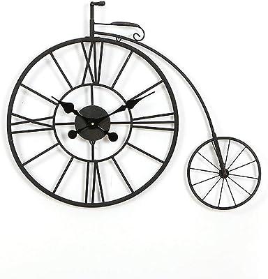 PENGJIE Reloj de Pared Forma De Bicicleta Reloj De Pared ...