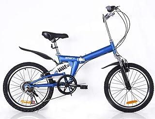 B-D Bicicletas Plegables De 20 Pulgadas para Mujer, Marco De Acero De Alto Carbono, Doble Suspensión Ligera Bicicleta Pleg...