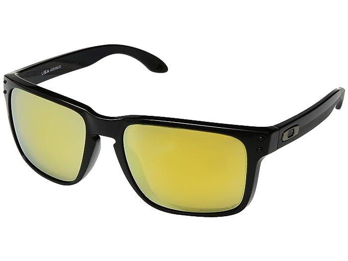 Oakley Holbrook XL (Polished Black/Prizm 24K Polarized) Sport Sunglasses